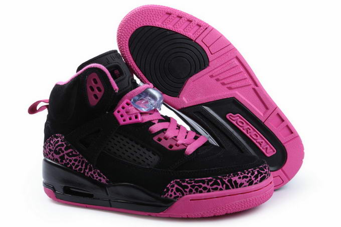 Womens Jordan 3.5 Spizike Shoes Black/Purple